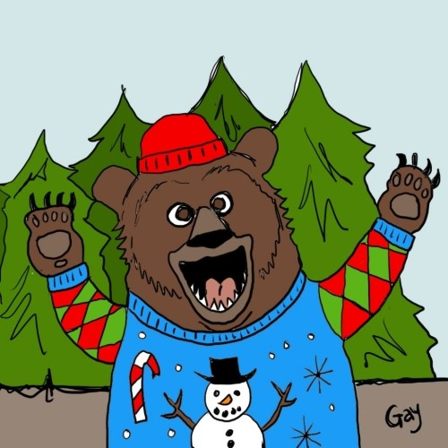Canadian Christmas Bear