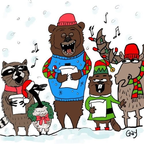 Canadian Christmas Carolers